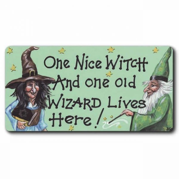 One Nice Witch And One Old Wizard Smiley Magnet